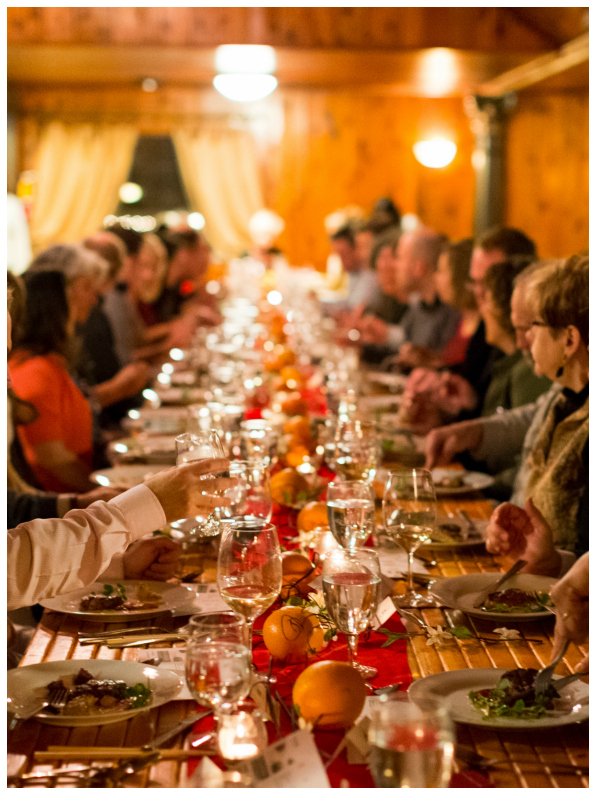 Family Style, Big Table, Spokane Event Venue, Commellini Estate