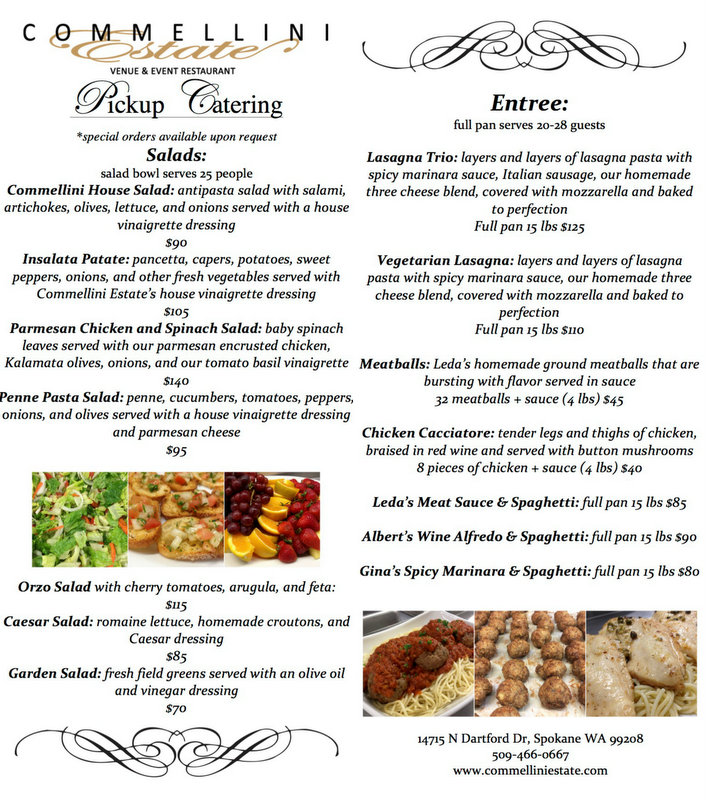 spokane event venue, spokane catering, pickup catering