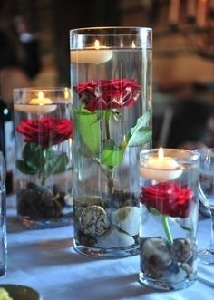 Cylinder Centerpieces, cylinder, roses