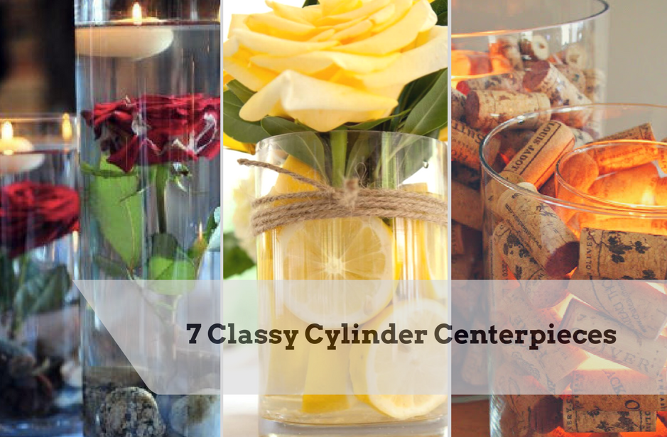 Cylinder Centerpieces 7 Classy Options Commellini Estate