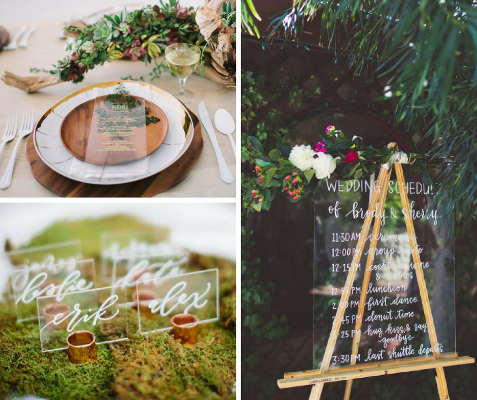 Wedding trends, 2018 brides, unveiled 2018 wedding trends, bride, wedding inspiration, unveiled, wedding trends, 2018, Spokane wedding venue, outdoor wedding venue Spokane, Spokane wa, pure elegance wedding theme, commellini estate, commellini, commellini wedding venue, pnw weddings, wistful woodsy romance, diy wedding, handcrafted wedding, enchanted evening, enchanted wedding, wedding stationary, acrylic wedding decor