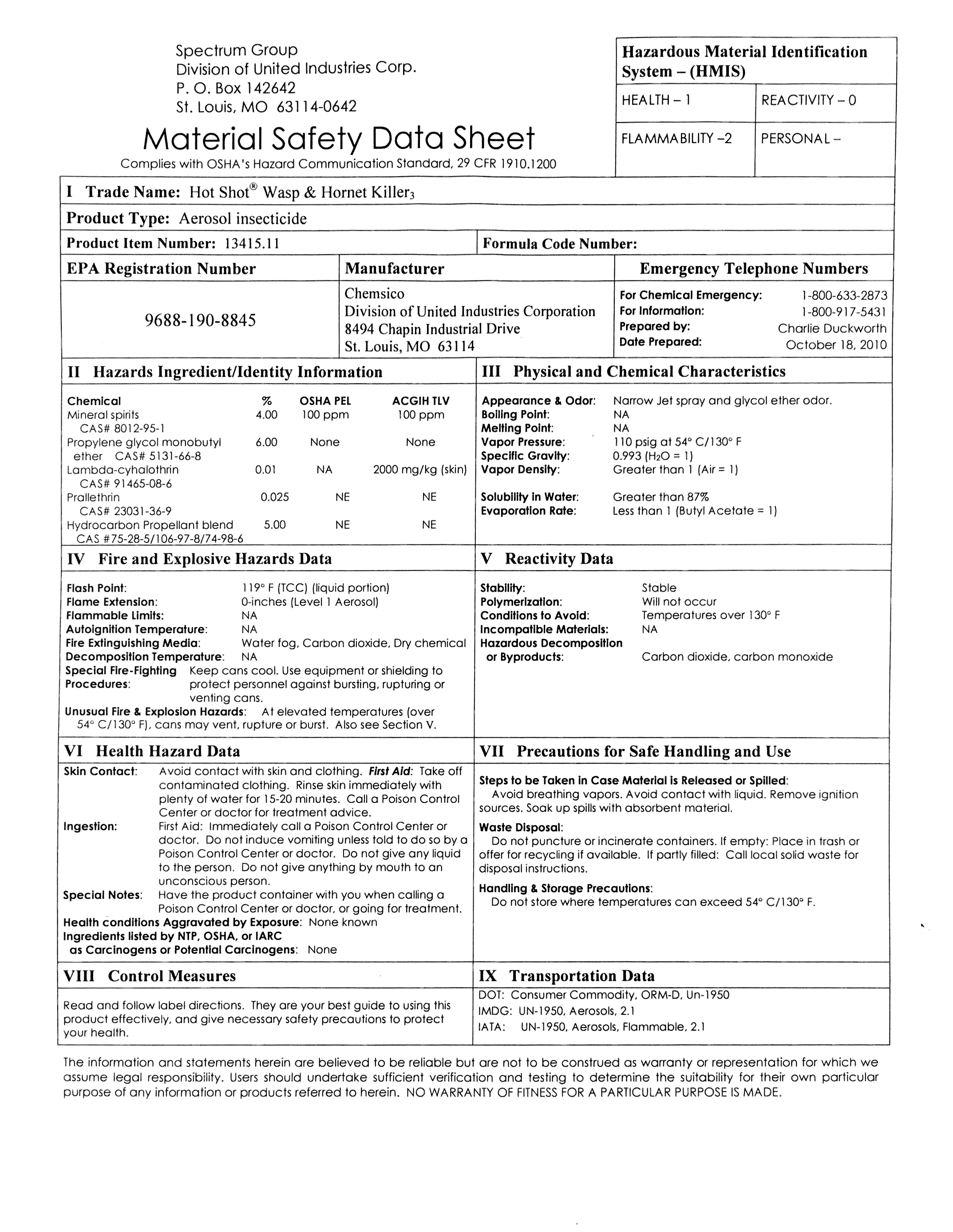Safety Data Sheets - Commellini Estate