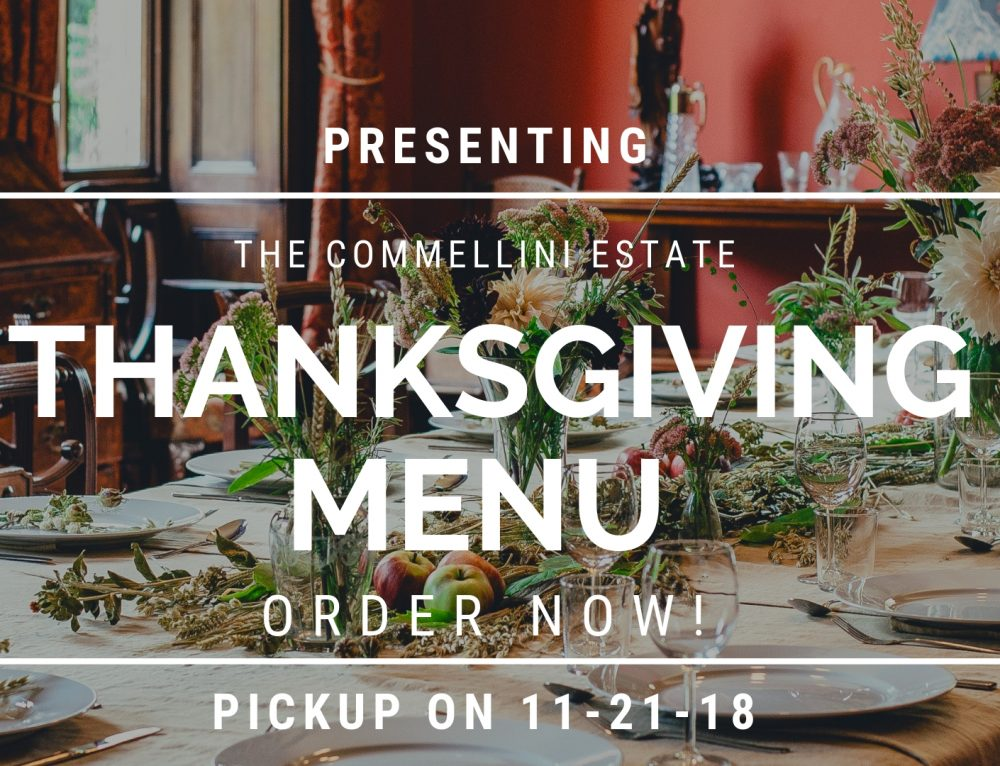 11/21/18 Thanksgiving Menu Pickup