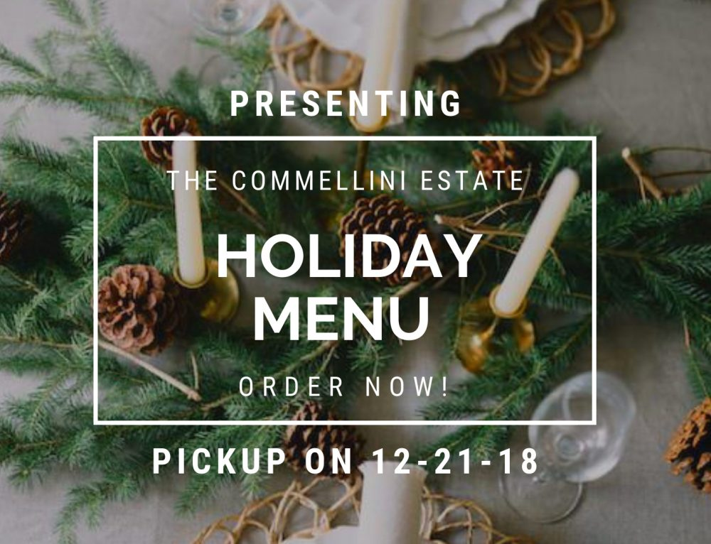 12/21/18 Holiday Menu Pickup