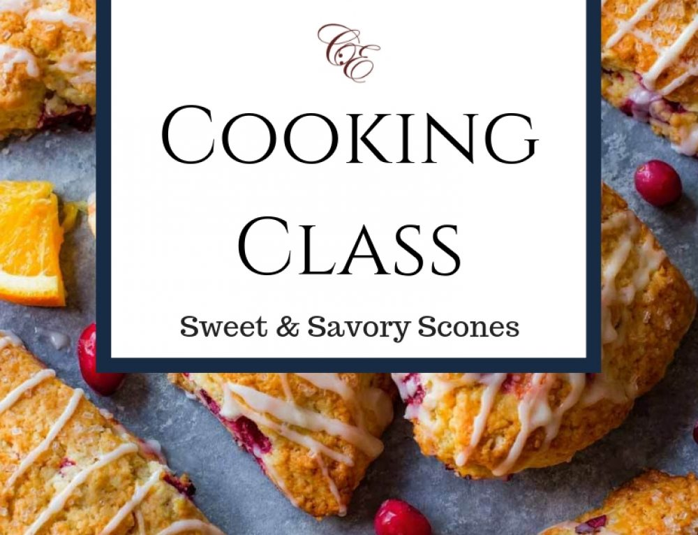 11/3/18 & 11/4/18 Brunch & Bubbles Cooking Class: SCONES