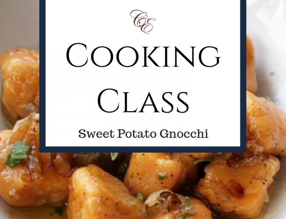 11/15 & 11/16 Cooking Class: Sweet Potato Gnocchi