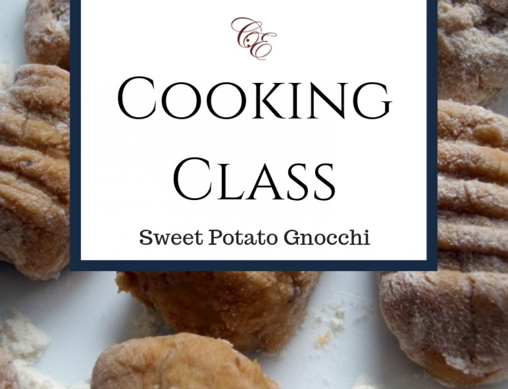 4/26/19 Cooking Class: Sweet Potato Gnocchi