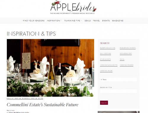 Apple Brides Feature: Commellini Estate's Sustainable Future