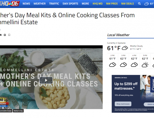 KHQ: The Wake Up Show- Mother's Day Meal Kits & Online Cooking Classes From Commellini Estate