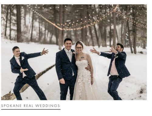 Apple Brides Feature: Sweet & Snowy Winter Wedding