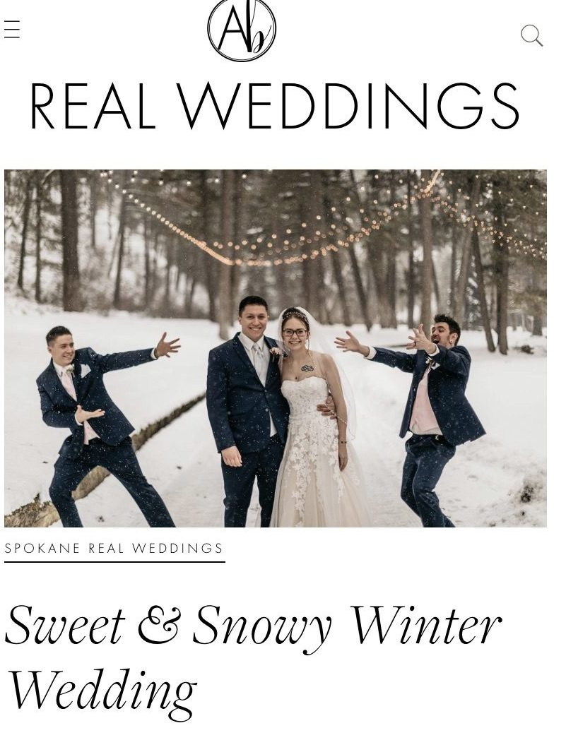 Spokane: Sweet & Snowy Winter Wedding Spokane Real Wedding