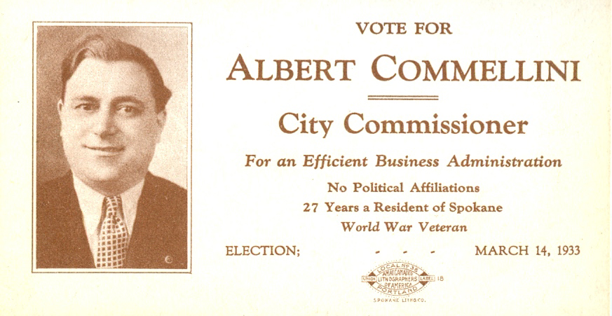 Vote for Albert Commellini