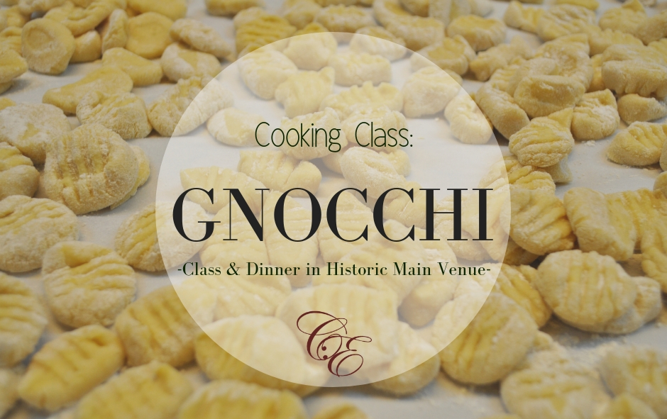 1/24/20 & 1/31/20 Cooking Class: Gnocchi-Handmade Pasta