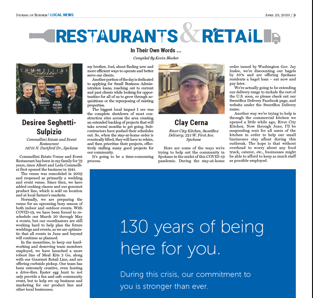 Journal of Business Article: Restaurant & Retail Feature