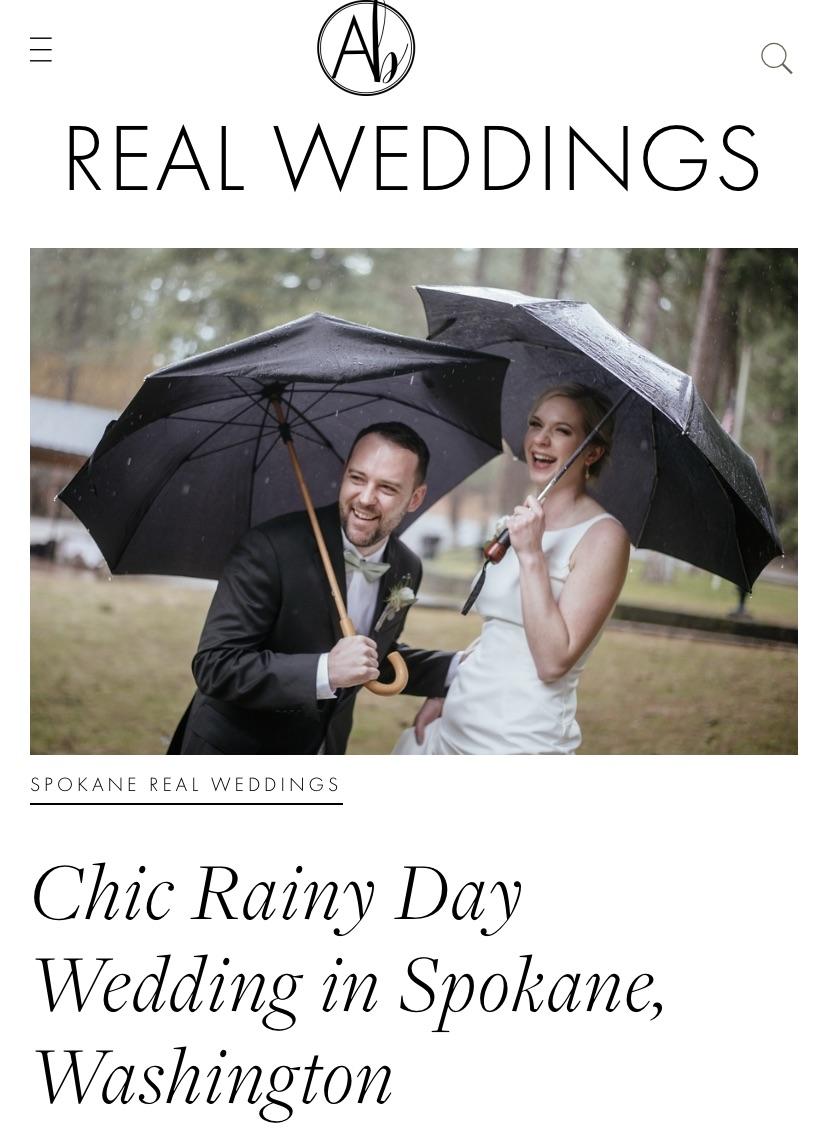 Apple Brides Article: Chic Rainy Day Wedding in Spokane, Washington